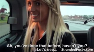 Teens Domina and Jessi gets their pussy banged inside the car