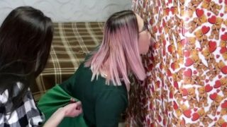 Valentine's day Surprise! GF Shared his gift with a friend. Gloryhole BJ