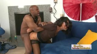 Buffed Black Stud Ruffing Up Some Asian Pussy